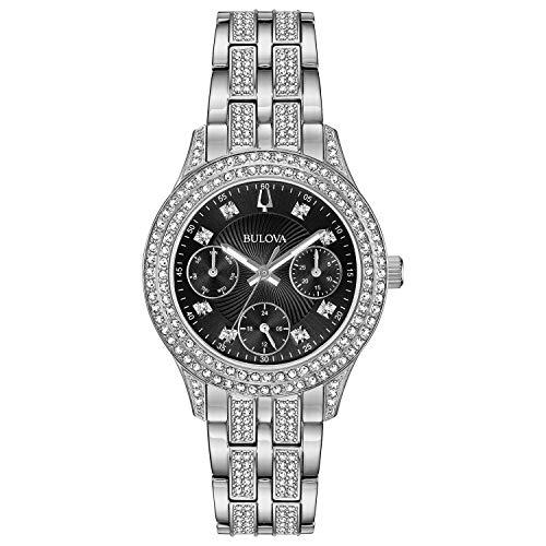 腕時計 ブローバ レディース 96N110 【送料無料】Bulova Women's Swarovski Crystal Quartz Watch with Stainless-Steel Strap, Silver, 16 (Model: 96N110)腕時計 ブローバ レディース 96N110