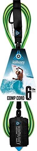 サーフィン リーシュコード マリンスポーツ Komunity 6 Foot Project 6MM Comp Leash - Limeサーフィン リーシュコード マリンスポーツ