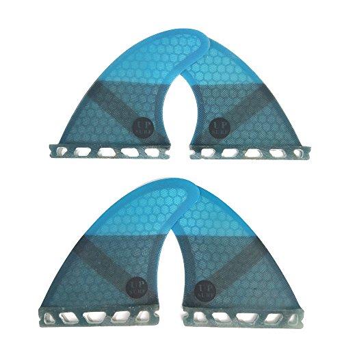 サーフィン フィン マリンスポーツ UPSURF Surfboard fins K2.1 Future Quad 4fins Surfing fins Choose Color (Blue)サーフィン フィン マリンスポーツ