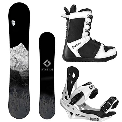 スノーボード ウィンタースポーツ キャンプセブン 2017年モデル2018年モデル多数 【送料無料】System MTN and Summit Complete Mens Snowboard Package (144 cm, Boot Size 13)スノーボード ウィンタースポーツ キャンプセブン 2017年モデル2018年モデル多数