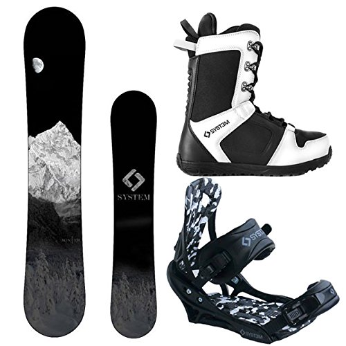 スノーボード ウィンタースポーツ システム 2017年モデル2018年モデル多数 【送料無料】System MTN and APX Complete Men's Snowboard Package (158 cm Wide, Boot Size 12)スノーボード ウィンタースポーツ システム 2017年モデル2018年モデル多数