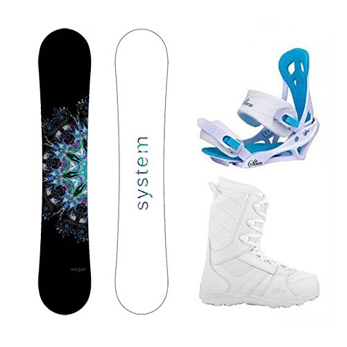 スノーボード ウィンタースポーツ システム 2017年モデル2018年モデル多数 【送料無料】System Package MTNW Women's Snowboard-144 cm-Siren Mystic Bindings-Siren Lux Women's Snowboaスノーボード ウィンタースポーツ システム 2017年モデル2018年モデル多数