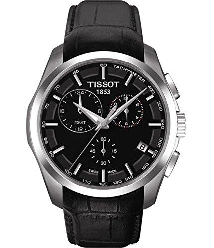 ティソ 腕時計 メンズ T035.439.16.051.00 【送料無料】Tissot T035.439.16.051.00 GMT Black Dial & Leather Strap Men's Watchティソ 腕時計 メンズ T035.439.16.051.00