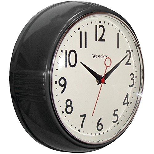 壁掛け時計 インテリア インテリア 海外モデル アメリカ SYNCHKG098108 Westclox 32042R Retro 1950 Kitchen Wall Clock, 9.5-Inch Black壁掛け時計 インテリア インテリア 海外モデル アメリカ SYNCHKG098108