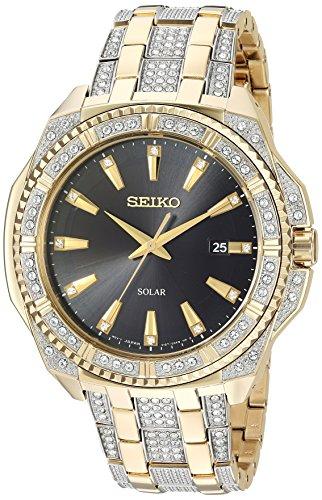 セイコー 腕時計 メンズ SNE458 【送料無料】Seiko Men's Crystal Solar Japanese-Quartz Watch with Two-Tone-Stainless-Steel Strap, 21 (Model: SNE458)セイコー 腕時計 メンズ SNE458