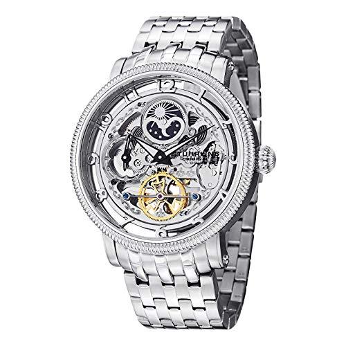 ストゥーリングオリジナル 腕時計 メンズ 【送料無料】Stuhrling Original Symphony DT Silver Dial Mens Stainless Steel Watch 411.33112ストゥーリングオリジナル 腕時計 メンズ