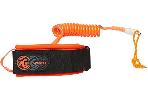 サーフィン リーシュコード マリンスポーツ Creatures of Leisure Ryan Hardy Bodyboard Bicep Leash Orange Clear Largeサーフィン リーシュコード マリンスポーツ