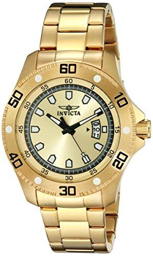 インヴィクタ インビクタ プロダイバー 腕時計 メンズ 19265 【送料無料】Invicta Men's 19265 Pro Diver Analog Display Japanese Quartz Gold Watchインヴィクタ インビクタ プロダイバー 腕時計 メンズ 19265