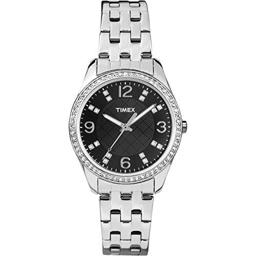 タイメックス 腕時計 レディース T2P3879J 【送料無料】Timex Women's T2P387 Silver-Tone Bracelet Watch with Swarovski Crystalsタイメックス 腕時計 レディース T2P3879J