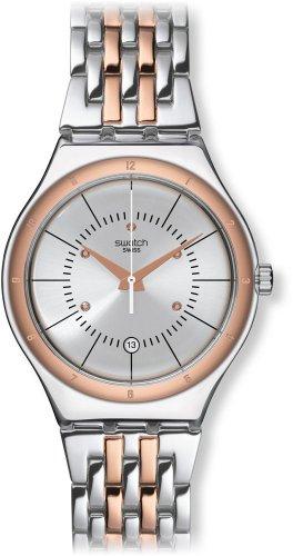 スウォッチ 腕時計 メンズ 夏の腕時計特集 YWS404G 【送料無料】Swatch Irony Sedan Silver Dial Two Tone Stainless Steel Mens Watch YWS404Gスウォッチ 腕時計 メンズ 夏の腕時計特集 YWS404G