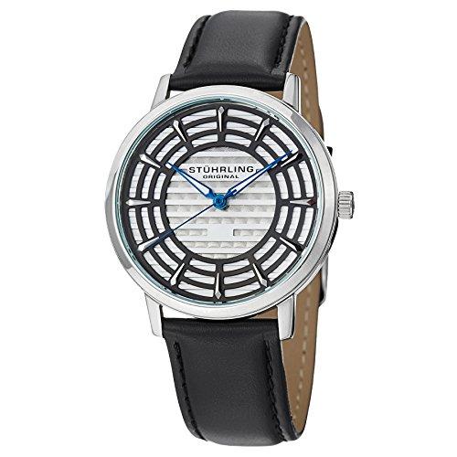 ストゥーリングオリジナル 腕時計 メンズ 398.331510 【送料無料】Stuhrling Original Men's 398.331510 Colosseum Swiss Quartz Black Leather Watchストゥーリングオリジナル 腕時計 メンズ 398.331510