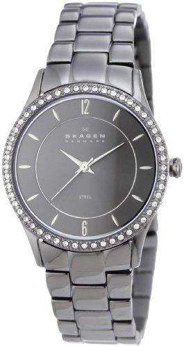 スカーゲン 腕時計 レディース 347SMXM Skagen Charcoal Grey Steel Link Women's Watch 347Smxmスカーゲン 腕時計 レディース 347SMXM