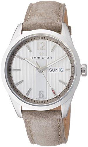 ハミルトン 腕時計 メンズ H43311915 【送料無料】Hamilton Broadway Silver Dial Grey Leather Mens Watch H43311915ハミルトン 腕時計 メンズ H43311915