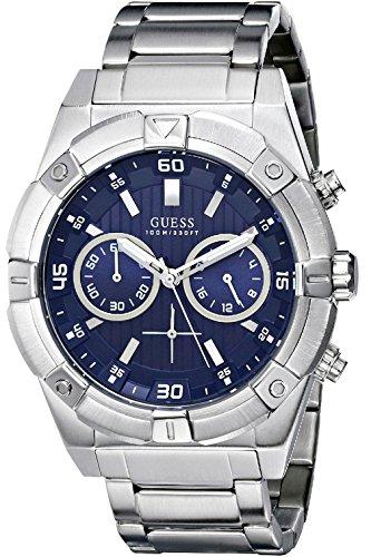 WR腕時計 メンズ Crown,100m & GUESS ゲス Bracelet,Screw Case 【送料無料】GUESS メンズ Men's Steel GUESS Chronograph,Stainless W0377G2 W0377G2 腕時計 ゲス W0377G2