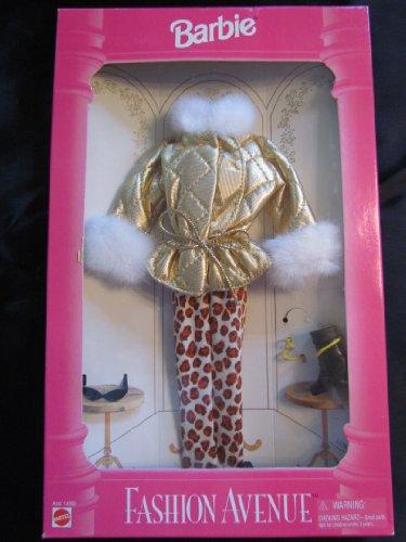 バービー バービー人形 着せ替え 衣装 ドレス Gold with white fur trim jacket & leopard pants Barbie outfitバービー バービー人形 着せ替え 衣装 ドレス