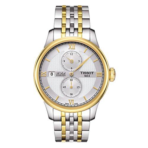 ティソ 腕時計 メンズ T0064282203802 【送料無料】Tissot Le Locle Automatique Regulateur Silver Dial Two-tone Gold Bracelet Mens Watch T006.428.22.038.02ティソ 腕時計 メンズ T0064282203802