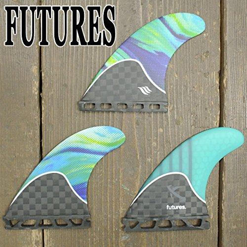 サーフィン フィン マリンスポーツ Future Fins Lost V2 Generation Thruster Set, Carbon/Teal/Swirl, Mediumサーフィン フィン マリンスポーツ