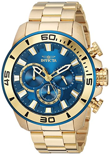 インヴィクタ インビクタ プロダイバー 腕時計 メンズ 22587 Invicta Men's Pro Diver Quartz Watch with Stainless-Steel Strap, Gold, 24 (Model: 22587)インヴィクタ インビクタ プロダイバー 腕時計 メンズ 22587