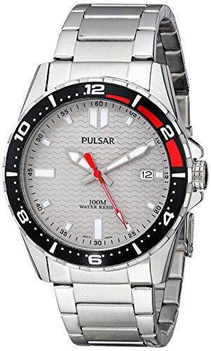 パルサー SEIKO セイコー 腕時計 メンズ PS9103 Seiko Men's PS9103 Pulsar Grey Dial Watchパルサー SEIKO セイコー 腕時計 メンズ PS9103
