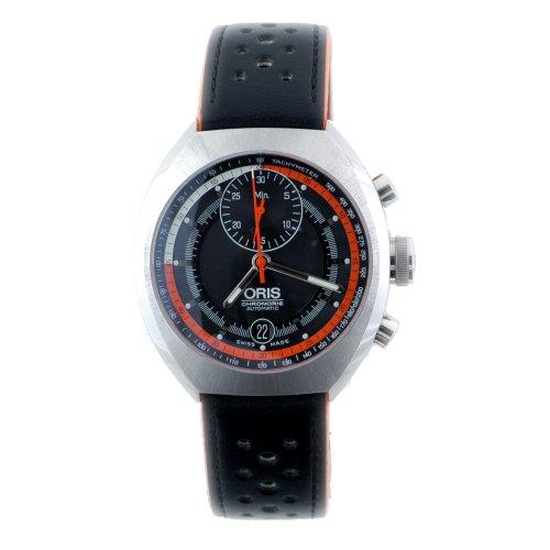 オリス 腕時計 メンズ 01 672 7564 4154-Set 【送料無料】Oris Men's 672 7564 4154LS Chronoris Chronograph Black Dial Watchオリス 腕時計 メンズ 01 672 7564 4154-Set