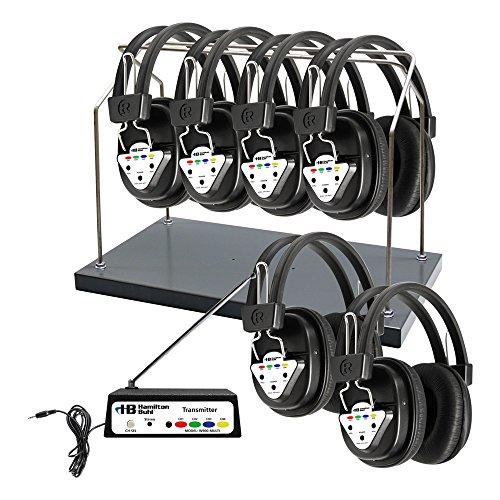 海外輸入ヘッドホン ヘッドフォン イヤホン 海外 輸入 HH/W906-MULTI HamiltonBuhl Wireless 6 Person Listening Center with Multi-Frequency Transmitter, Wireless Headphones and Rack海外輸入ヘッドホン ヘッドフォン イヤホン 海外 輸入 HH/W906-MULTI