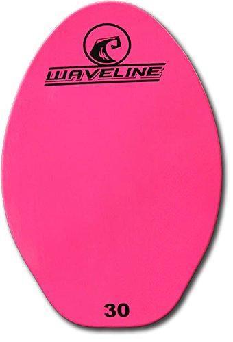 サーフィン スキムボード マリンスポーツ Waveline Wood Skimboard - Bright Neon Color Skim Boards (Hot Pink, 30