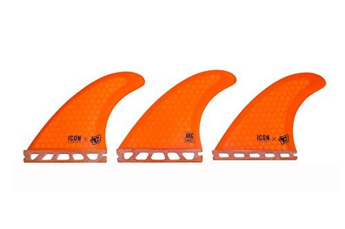 サーフィン フィン マリンスポーツ FAIRS13OR Creatures of Leisure Arc Icon Core Flex Single Tab Fin Orange Smallサーフィン フィン マリンスポーツ FAIRS13OR