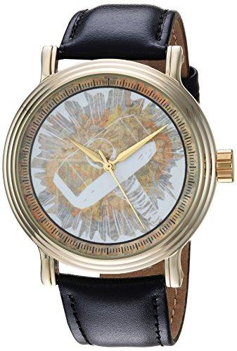 マーベルコミック アメコミ 腕時計 メンズ WMA000194 MARVEL Men's Comics Analog-Quartz Watch with Leather-Synthetic Strap, Black, 22 (Model: WMA000194マーベルコミック アメコミ 腕時計 メンズ WMA000194