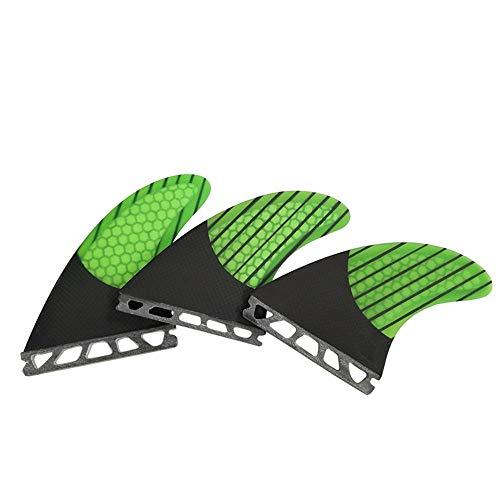 サーフィン フィン マリンスポーツ UPSURF Surfboard 3 FCS/Future Fins Carbon+Fiberglass+Honeycomb M Size tri Fin G5 (Green Future)サーフィン フィン マリンスポーツ