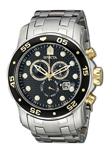 """インヴィクタ インビクタ プロダイバー 腕時計 メンズ 10382 【送料無料】Invicta Men""""s 10382 Pro Diver Chronograph Black Carbon Fiber Dial Watchインヴィクタ インビクタ プロダイバー 腕時計 メンズ 10382"""