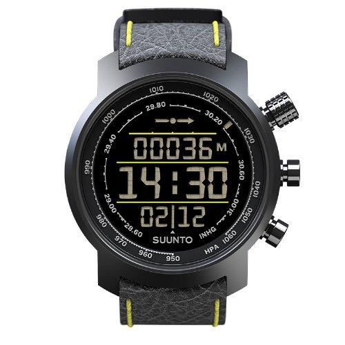 腕時計 スント アウトドア メンズ アウトドアウォッチ特集 SS019997000 【送料無料】Wristwatch Suunto Elementum Terra Black/yellow Leather - E腕時計 スント アウトドア メンズ アウトドアウォッチ特集 SS019997000
