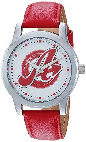 マーベルコミック アメコミ 腕時計 メンズ WMA000215 MARVEL Men's Avengers Analog-Quartz Watch with Leather-Synthetic Strap, red, 18 (Model: WMA000215マーベルコミック アメコミ 腕時計 メンズ WMA000215