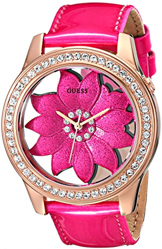 ゲス GUESS 腕時計 レディース U0534L3 GUESS Women's U0534L3 Pink Floral Watch with Rose Gold-Tone Case & Genuine Patent Leather Strapゲス GUESS 腕時計 レディース U0534L3