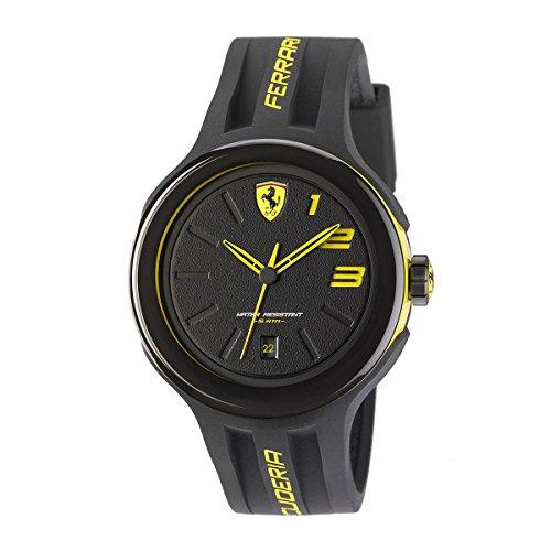 フェラーリ 腕時計 メンズ 830221 FERRARI Black Rubber Strap Men's Watch 830221フェラーリ 腕時計 メンズ 830221