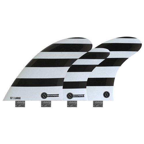 サーフィン フィン マリンスポーツ FCS Shapers Fins Corelite S7 Large five fin quad/tri set Small surfboard finsサーフィン フィン マリンスポーツ