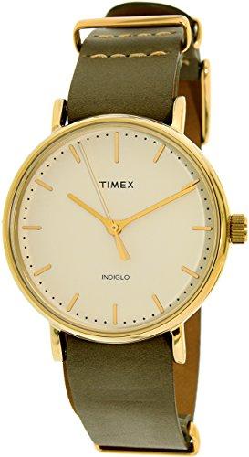 タイメックス 腕時計 レディース TW2P98500 Timex Women's TW2P98500 Green Leather Quartz Fashion Watchタイメックス 腕時計 レディース TW2P98500