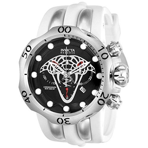 インヴィクタ インビクタ リザーブ 腕時計 メンズ 24065 【送料無料】Invicta 24065 Reserve 54mm Venom Viper Swiss Chronograph White Polyurethane Strap Watchインヴィクタ インビクタ リザーブ 腕時計 メンズ 24065