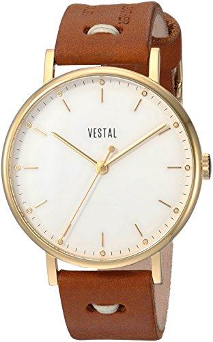 ベスタル ヴェスタル 腕時計 メンズ SOP42-3K03 Vestal 'Sophisticate Makers' Swiss Quartz Stainless Steel and Leather Dress Watch, Color:Brown (Model: SOP42-3K03)ベスタル ヴェスタル 腕時計 メンズ SOP42-3K03