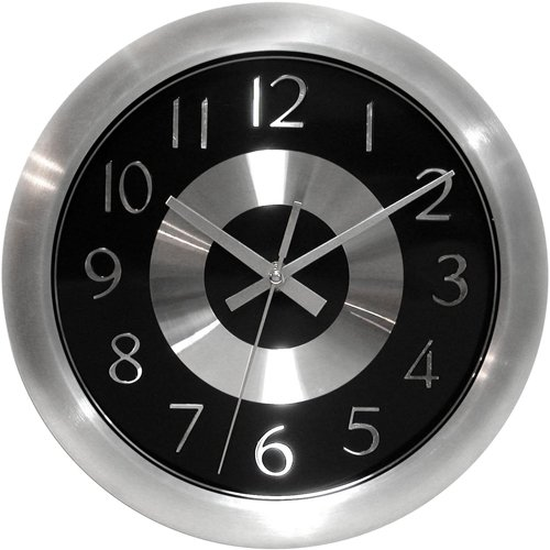 壁掛け時計 インテリア インテリア 海外モデル アメリカ 12977AL-2651BK Infinity Instruments Mercury Black Silent Sweep 10 Inch Aluminum Wall Clock壁掛け時計 インテリア インテリア 海外モデル アメリカ 12977AL-2651BK