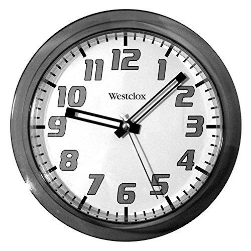 壁掛け時計 インテリア インテリア 海外モデル アメリカ 32004BK 【送料無料】Westclox 7.75 in. Round Wall Clock壁掛け時計 インテリア インテリア 海外モデル アメリカ 32004BK
