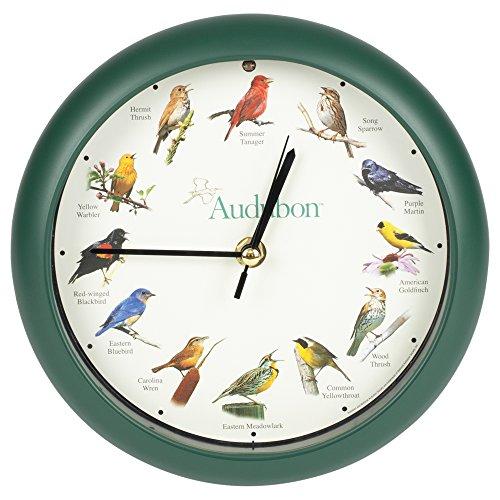 壁掛け時計 インテリア インテリア 海外モデル アメリカ AUD8 【送料無料】Mark Feldstein & Associates Audubon Singing Bird Wall/Desk Clock, 8 Inch壁掛け時計 インテリア インテリア 海外モデル アメリカ AUD8