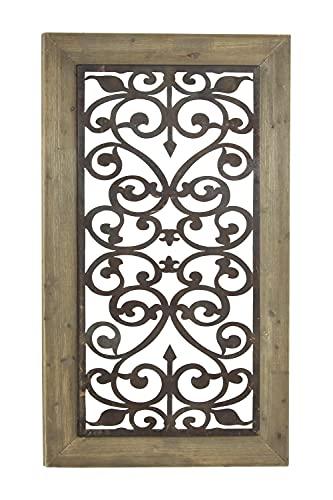 壁飾り インテリア タペストリー 壁掛けオブジェ 海外デザイン 85971 Deco 79 Wood Metal Wall Plaq 46