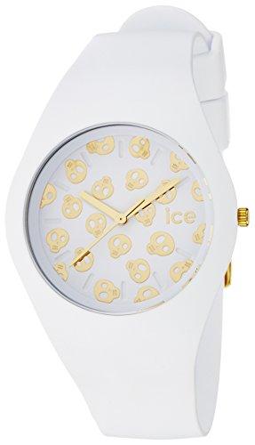 腕時計 アイスウォッチ メンズ かわいい 夏の腕時計特集 Ice Skull 【送料無料】Ice-Watch - Ice-Skull - White Gold - Unisex (43mm) Silicone - Quartz Watch - ICE.SK.WE.U.S.15腕時計 アイスウォッチ メンズ かわいい 夏の腕時計特集 Ice Skull