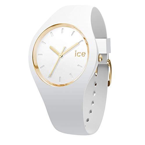 アイスウォッチ 腕時計 メンズ かわいい Ice Glam Gold White 【送料無料】Ice-Watch - ICE Glam White - Women's Wristwatch with Silicon Strap - 000981 (Small)アイスウォッチ 腕時計 メンズ かわいい Ice Glam Gold White