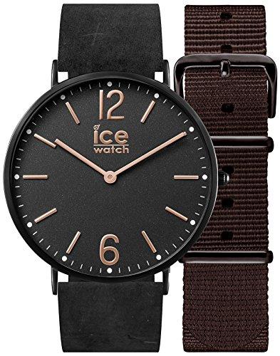 アイスウォッチ 腕時計 メンズ かわいい 001369 Ice-Watch CHL.B.COT.41.N.15 Mens Ice-City Watch with Nato Brown Nylon and Black Leather Strapsアイスウォッチ 腕時計 メンズ かわいい 001369