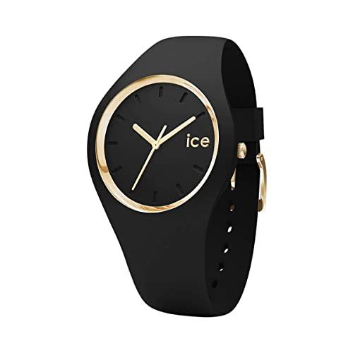 腕時計 アイスウォッチ メンズ かわいい 夏の腕時計特集 Ice Glam gold black 【送料無料】Ice-Watch - ICE Glam Black - Women's Wristwatch with Silicon Strap - 000982 (Small)腕時計 アイスウォッチ メンズ かわいい 夏の腕時計特集 Ice Glam gold black
