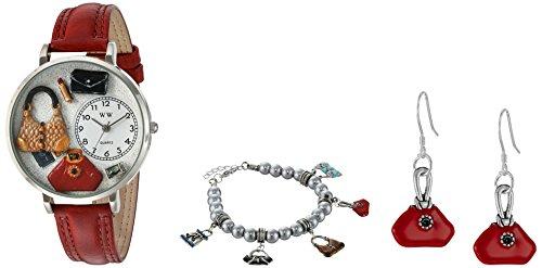 気まぐれな腕時計 かわいい プレゼント クリスマス ユニセックス US1010021REDSET 【送料無料】Whimsical Watches Women's 'Purse Lover' Quartz Stainless Steel and Leather Wat気まぐれな腕時計 かわいい プレゼント クリスマス ユニセックス US1010021REDSET