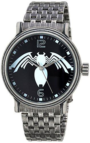 マーベルコミック アメコミ 腕時計 メンズ WMA000218 Marvel Men's Spider-Man Analog-Quartz Watch with Stainless-Steel Strap, Silver, 22 (Model: WMA000218マーベルコミック アメコミ 腕時計 メンズ WMA000218