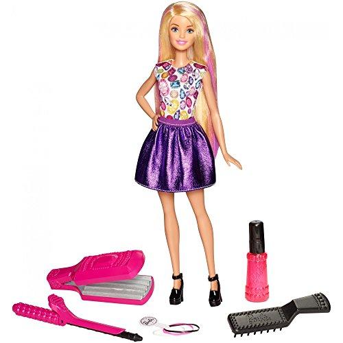 バービー バービー人形 日本未発売 プレイセット アクセサリ Barbie Crimp & Curl Doll, Age Range: 5Y+ Color-change hair and a set of realistic tools allow young hairstylists to create unique looks バービー バービー人形 日本未発売 プレイセット アクセサリ