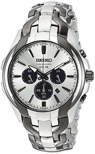 セイコー 腕時計 メンズ SSC635 【送料無料】Seiko Men's Solar Chronograph Japanese-Quartz Watch with Two-Tone-Stainless-Steel Strap, 20 (Model: SSC635)セイコー 腕時計 メンズ SSC635